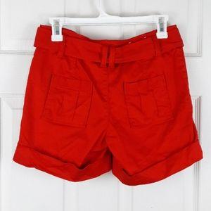 Calvin Klein Shorts - Calvin Klein Belted Red Shorts Size 2